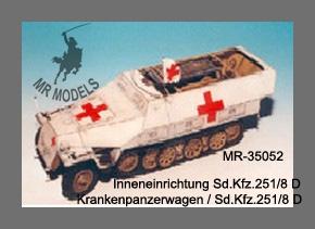Ambulance For Sale >> MR-35052 Sd.Kfz.251/8 Ausf.D Ambulance interior set [TAMIYA] - MR Modellbau