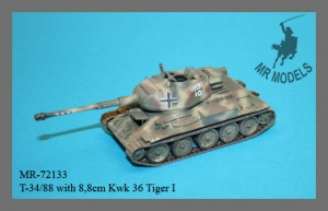 MR-72133  T-34/88 with 8,8cm Kwk Tiger I