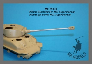 MR-35430 Geschützrohr 105mm für M51 Supersherman ( TAMIYA )