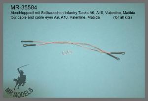 MR-35584  Abschleppseil mit Seilkauschen Infantry Tanks A9, A10, Valentine, Matilda  (für alle Modelle)