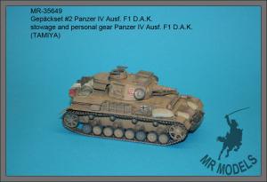 MR-35649  Gepäckset #2 Panzer IV Ausf. F1 D.A.K.     (TAMIYA)
