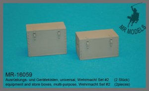 MR-16059  Ausrüstungs- und Gerätekisten, universal, Wehrmacht Set #2  (2 Stück)