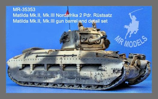 MR - 35353 Matilda Mk.II / III Nordafrika 2 Pdr. Kanone