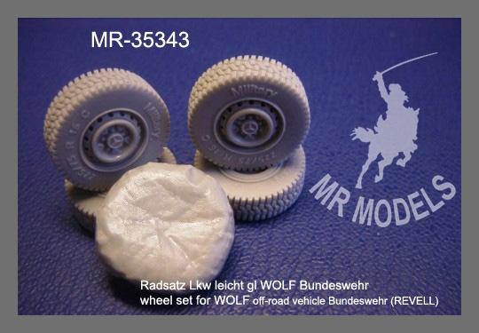 MR-35343  Rädsatz für Lkw leicht gl. WOLF der Bundeswehr