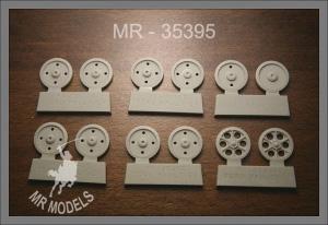MR-35396 Laufrollensatz Ford Maultier (ICM) späte gewölbte Ausführung