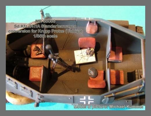 "33 12.50 15 >> MR-35056 Sd.Kfz.247/A ""Standartenwagen"" Krupp Protze (TAMIYA) - MR Modellbau"
