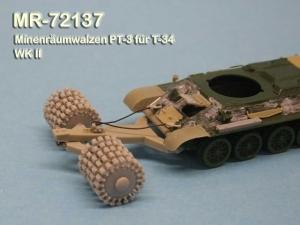 MR - 72137 Minenräumwalzen PT-3 für T-34 Sowjetische Armee 2.Wel
