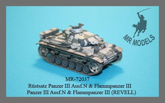 MR-72037 Rüstsatz Panzer III Ausf.N / Flammpanzer III
