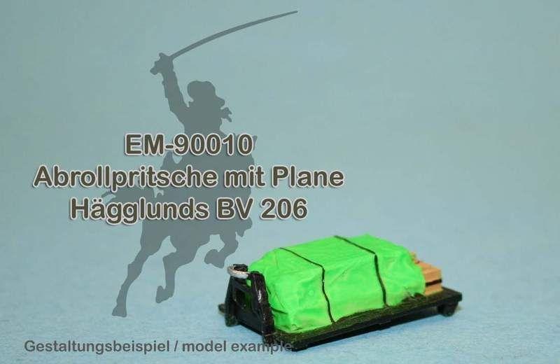 EM-90010 Abrollpritsche mit Plane für Hägglunds BV 206