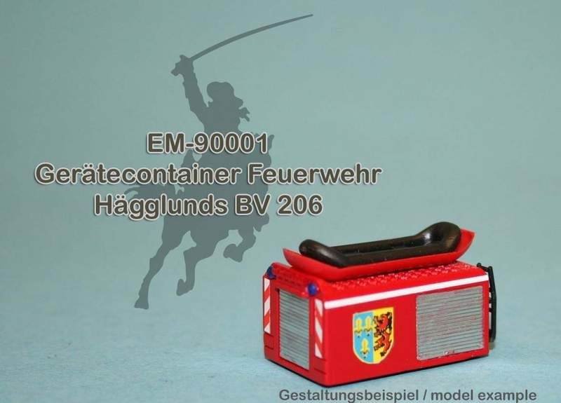 EM-90001  Gerätecontainer Feuerwehr für Hägglunds BV 206
