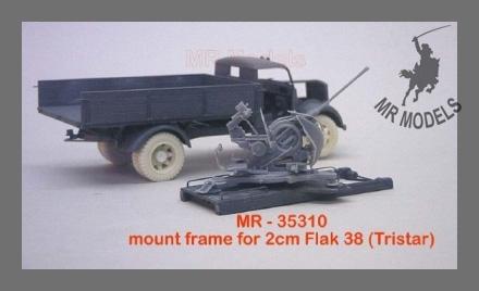 MR-35310  Flakaufsatzrahmen f. 2cm Flak 38 auf Opel Blitz (f. Tristar 2cm Flak 38)