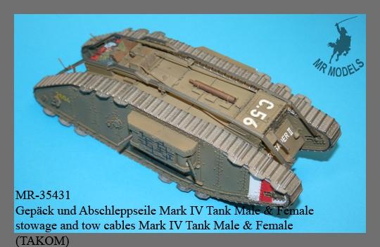 MR-35431 Gepäck und Abschleppseile Mark IV Tank Male & Female      (TAKOM)