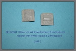 MR-35384 Kühler mit Winterverkleidung Einheitsdiesel