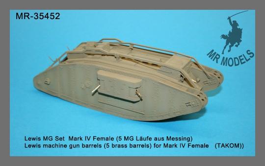 MR-35452 Lewis MG Set  Mark IV Female, 5 MG Läufe aus Messing,   (TAKOM)