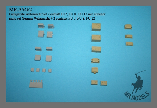 MR-35462 Funkgeräte Wehrmacht Set 2 enthält FU7, FU 8 , FU 12 mit Zubehör