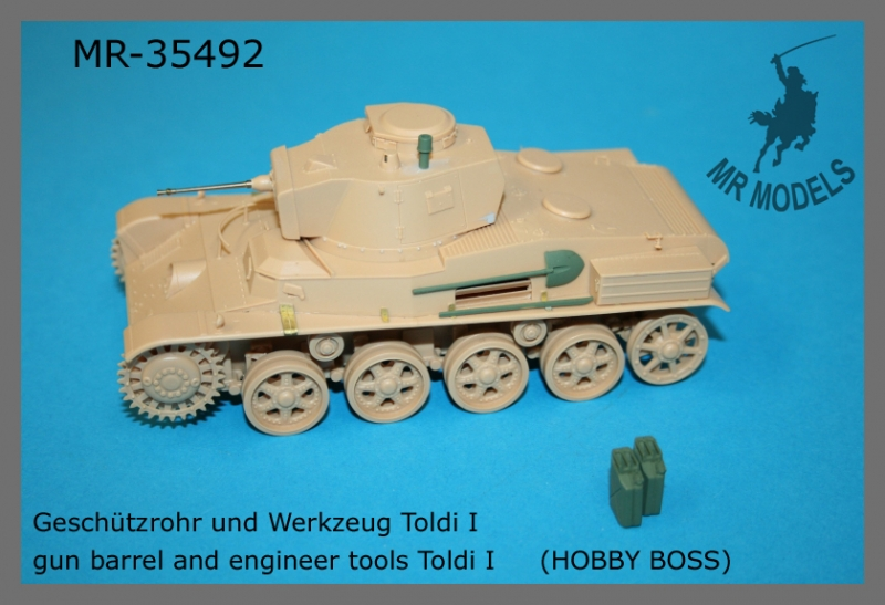 MR-35492  gun barrel and engineer tools Toldi I     (HOBBY BOSS)