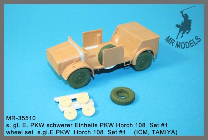 MR-35510   s. gl. E. PKW schwerer Einheits PKW Horch 108  Set #1  (ICM, TAMIYA)