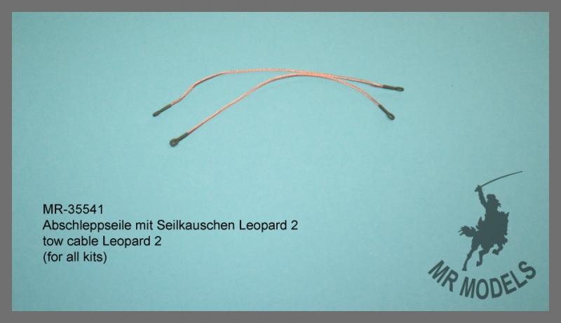 MR-35541 Abschleppseil mit Seilkauschen Leopard 2  ( für alle Modelle )
