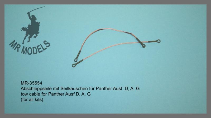MR-35554  Abschleppseil mit Seilkauschen für Panther Ausf. D, A, G  (REVELL)