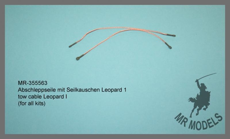 MR-35563  Abschleppseil mit Seilkauschen Leopard 1       (für alle Modelle)