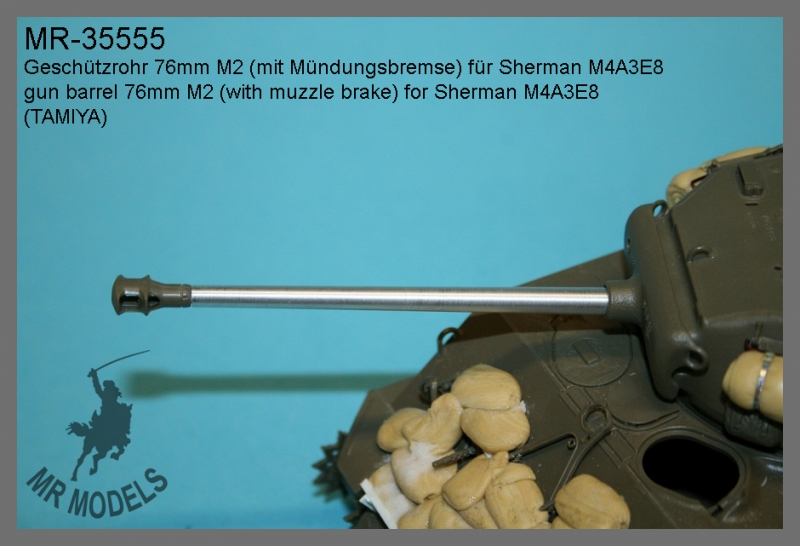 MR-35555  Geschützrohr 76mm M2 (mit Mündungsbremse) für Sherman M4A3E8    (TAMIYA)