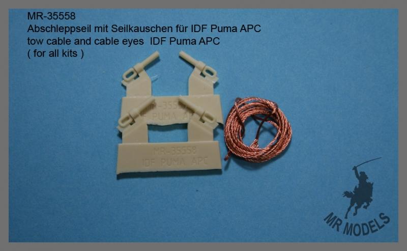 MR-35558 Abschleppseil mit Seilkauschen für IDF Puma APC