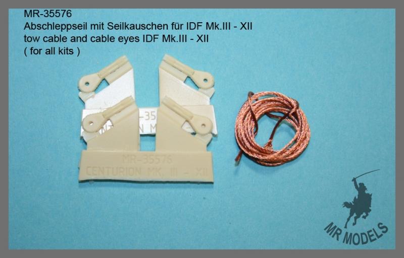 MR-35576  Abschleppseil mit Seilkauschen für Centurion Mk.  III - XII  ( für alle Modelle )