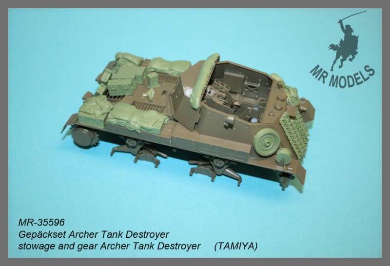 MR-35596  Stowage and personal gear Archer S.P. anti-tank gun      (TAMIYA)