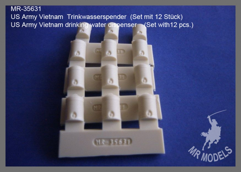 MR-35631  US Army Vietnam drinking water dispenser    (Set with12 pcs.)