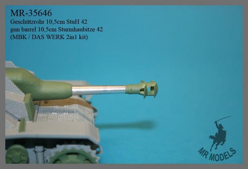 MR-35646  Geschützrohr 10,5cm StuH 42     (MBK / DAS WERK 2in1 kit)