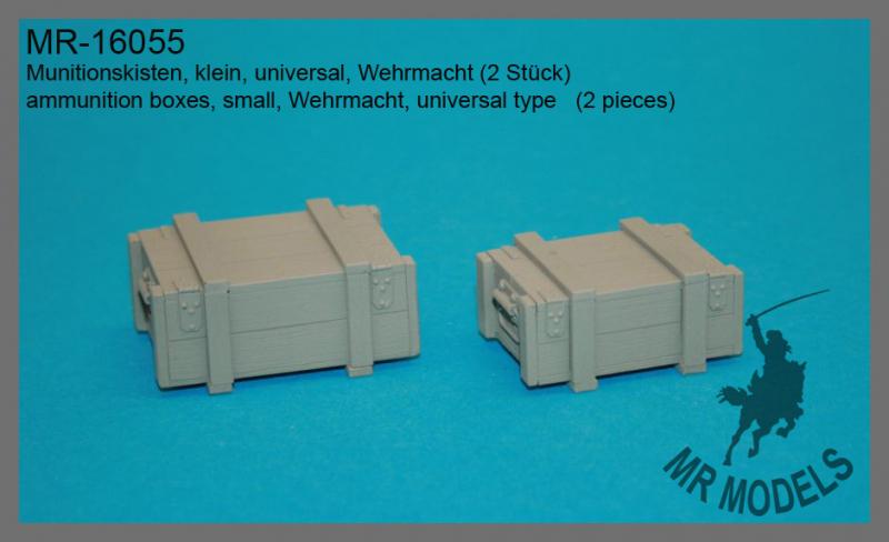 MR-16055  Munitionskisten, klein, universal, Wehrmacht (2 Stück)