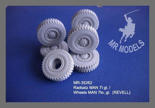 MR - 35262 Rädersatz MAN 7t gl. [für REVELL]