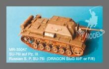 MR - 35047 Sowj.Sfl.SU-76i auf Panzer III [für REVELL Stug III]