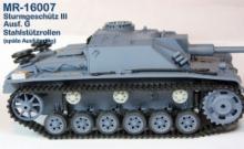MR-16007  Stahlstützrollen Typ 3 StuG III Ausf.G - 1:16