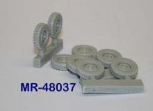 MR-48037  Räder mit Geländeprofil für Krupp Protze