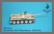 MR-72129  SU-100 Mod. 1969 CSSR Produktion mit Scheibenbenrädern u. gedrehtem Rohr