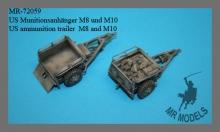 MR-72059  US ammunition trailer M8 and M10