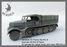 MR-72101 Planenverdeck Sd.Kfz.9 Famo (REVELL)