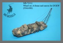 MR-72112  Wheel Set and soft top DUKW (ITALERI)