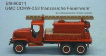 EM-90011  GMC CCKW-353 French firefighter vehicle