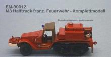 EM-90012  M3 Halftrack franz. Feuerwehr - Komplettmodell