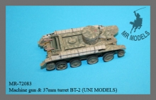 MR-72083  Machine gun & 37mm turret / update set BT-2