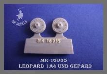 MR-16035  Nabendeckel  für TAMIYA Leopard 1A4 und Gepard 1:16
