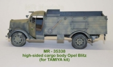 MR-35338  High side cargo bed with wheel arches for Opel Blitz (TAMIYA)