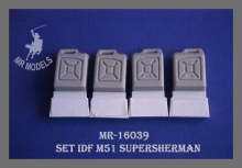 MR-16039  Fuel cans without carrier  M51 Supersherman 1:16