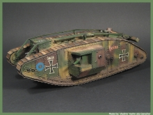 MR-35434 Mark IV Male Tank Beutepanzer mit Nordenfelt 57mm Kanonen