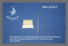 MR-35451 Geschützrohr und Geschützblende für M10 Tank Destroyer