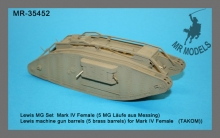 MR-35452 Lewis MG Set  Mark IV Female, 5 MG Läufe aus Messing,   (TAKOM)
