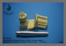 MR-35466  gun barrel 155mm M126 for M109 US Army Vietnam   (ITALERI)