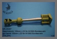 MR-35467  Geschützrohr 155mm L/23 für M109G Bundeswehr  (ITALERI)